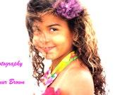 Hawaiian dress,costume for Hawaii weddings, flower girl dress, dress up costumes,pageant,birthdays,photoprop