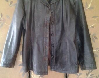 90s soft leather jacket