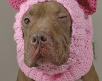 Dog Snood Pink Pig Made to Order