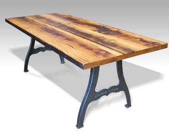 Urban farm table with industrial machine legs