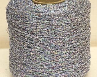 Vintage Blue metallic yarn