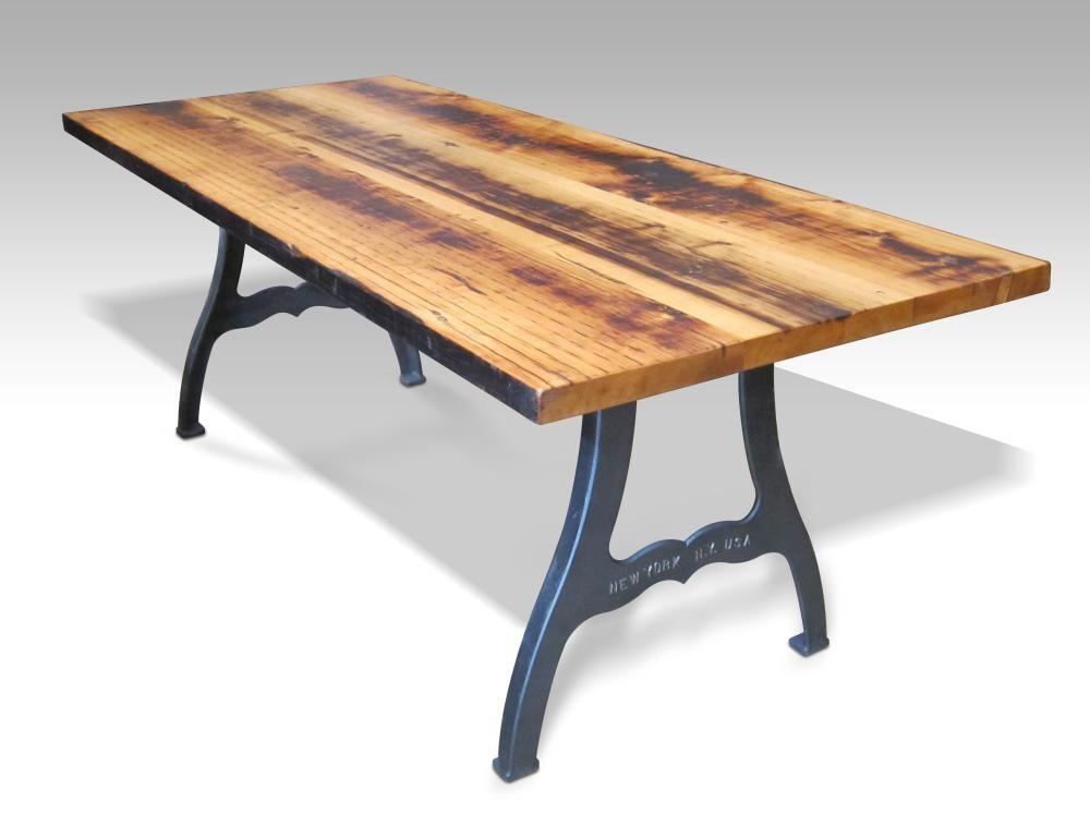 Urban farm table with industrial machine legs