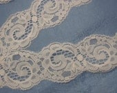 Light Pink Scallop Lace 2 inches wide 3 Yard
