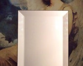 """BEVELED MIRROR 4"""" X 6"""" - Stained Glass Mosaic & Craft Supply *W4"""