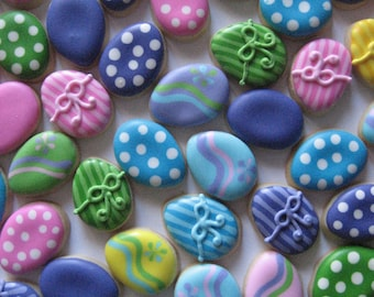 Itsy Bitsy Easter Egg Cookies (2 dozen)