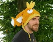 Magikarp Pokemon crochet hat shiny gold fish Magicarp beanie toque his hers gag gift funny meme