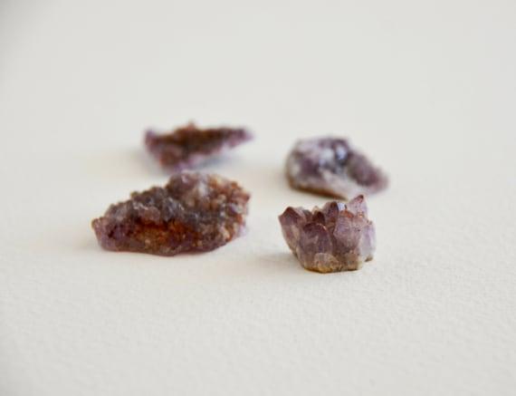 amethyst crystal specimen pieces from thunder bay, canada (4 pcs)
