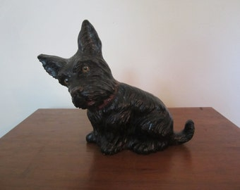Vintage Syroco Wood Scottie Terrier Door Stop