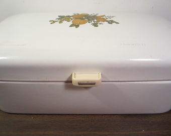 Vintage Porcelain Enamelware Bread Box
