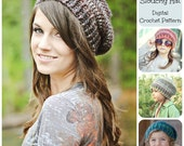 Crochet Pattern / Hat Pattern / Ribbed Brim Slouchy Hat Pattern 006 / Women's Hat Pattern / Children's Hat Pattern