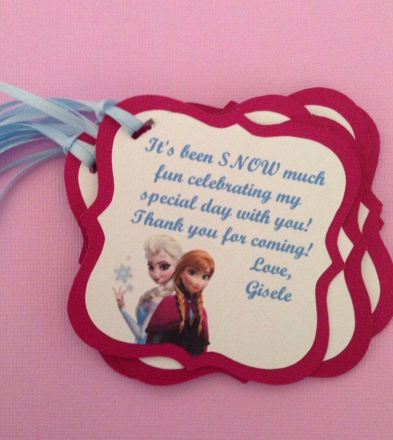 Frozen Birthday Favor Tags Frozen Happy Birthday By NiuDesigns