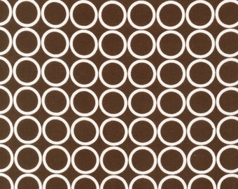 Fat Quarter Fabric for quilt or craft Robert Kaufman Metro Living Circles in Chocolate