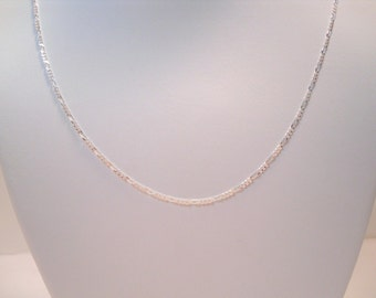 """925 sterling silver 26"""" 2mm figaro chain necklace"""