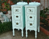 CUSTOM NIGHTSTANDS To Order. We Do Them Your Way. Antique Shabby Chic Painted Nightstands Reclaimed Restored Old Wood