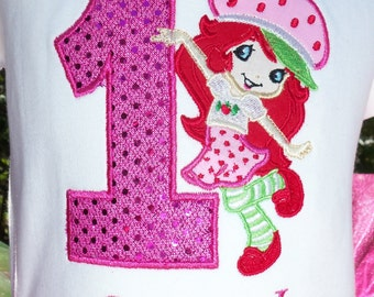 Strawberry ShortCake Birthday-SHIRT ONLY-Embroidered with Name FREE