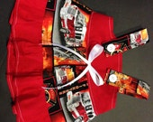 FDNY Firefighter Fireman 9/11 Military Baby Infant Toddler Girls Dress  You Pick Size