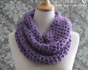 Crochet PATTERNS - Crochet Pattern - Crochet Infinity Scarf Pattern - Circle Scarf - Cowl Pattern - Crochet Patterns for Women - PDF 346