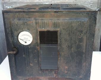Vintage camp oven, camp stove, primitive oven