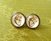 20% OFF -- 16 mm Vintage style Anatomical Heart  Cuff Links ,Mens Accessories, ,Perfect Gift Idea