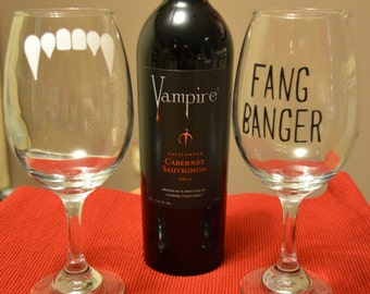 True Blood Wine Glass Set