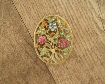 Vintage Large Flower Brooch