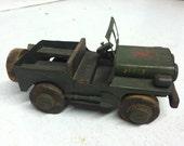 Truck Military American World War Vietnam Bottle Top Model Car Folk Art
