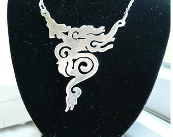 Cloud Dragon Silver Pendant