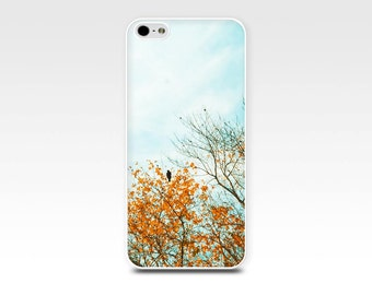 birds iphone case 4 4s 5 5s 6 birds tree autumn iphone case photography iphone 5 5s case fall leaves iphone 4 case teal fine art iphone case