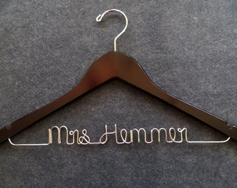 Bride Hanger, Wedding Dress Hanger, Shower Gift, Bridesmaid Gift, Bridal Party Hangers, Groom Hanger, Bridal Hanger, Engagment Gift