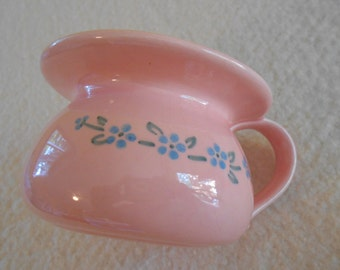 Cute Little Vintage Pink Ceramic Planter