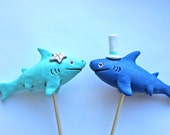 Sharks In Love wedding cake topper
