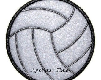 Instant Download Volleyball Machine Embroidery Applique Design 4x4, 5x7 and 6x10