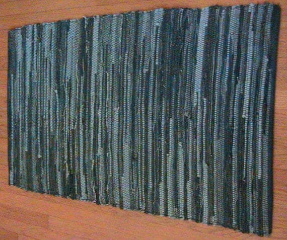 Handwoven Rag Rug Made From Recycled Jeans