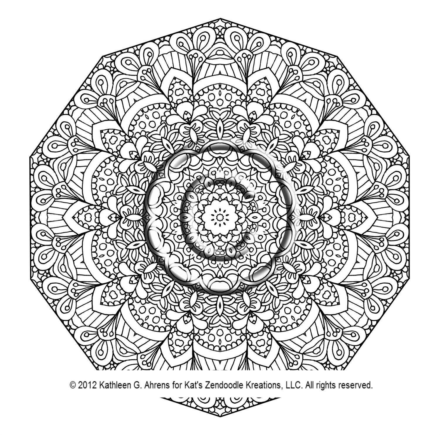 Galerry flower coloring pages for adults pdf
