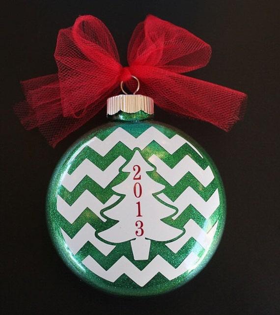 Christmas Tree Ornaments Etsy: Chevron Christmas Tree Ornament By Myposhcreations On Etsy