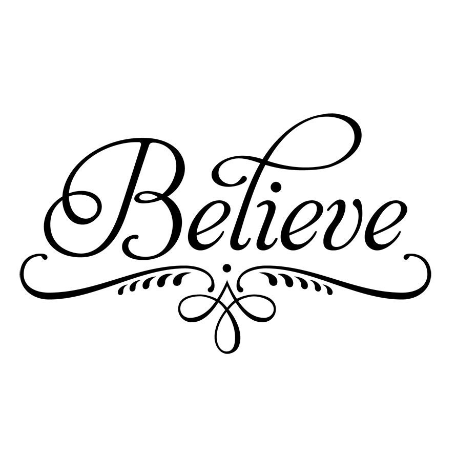 Believe decorative wall decal wall sticker wall by ...
