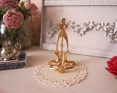 Gold Plate Stand for Dollhouse