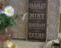 popular items for herb garden signs on etsy