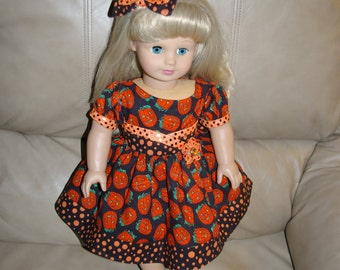 Halloween dress and hair bow!