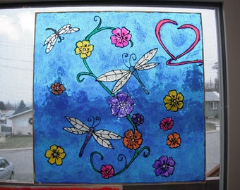 Faux Stain Glass Window Clings Made to Order you choose~