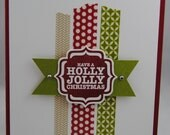 Handcrafted Washi Tape Christmas Card