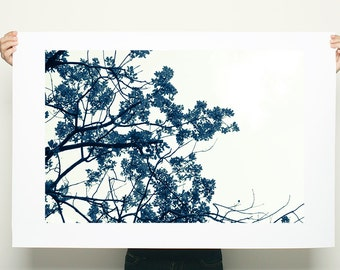 Giclee Print up to 40X60, tree print, nature prints, minimalist poster, black and white wall art