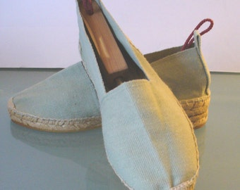 Made in Spain Mint Green Espadrilles Size 7