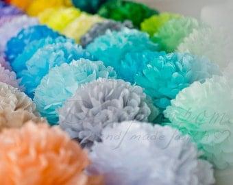 1 large tissue paper Pom Pom - 64 colors - fullest pompoms - wedding party decorations