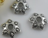 Set of 80pcs - Tibetan Tibet Silver Antique Fancy metal Spacer bead Caps Beads BEADCAPS diy handmade findings craft supplies wholesale lot