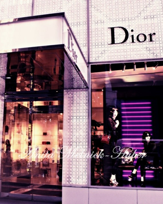 Madison Ave - NYC - New York - Dior Boutique - Purple - Fine Art Photograph - Fashion Photography - Fashion Art-French-Paris-Pink-Dorm Decor