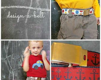 Boy's Custom Belt with Military Buckle, Many Ribbon Choices, Back-to-School Essentials, School Uniform,  MADE-TO-ORDER