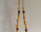 Oker - yellow ochre and copper necklace