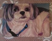 5x7 Animal Art Print | Hand-painted Shih Tzu Digital Painting | Dog Portrait | Canine Art | Pet Portrait