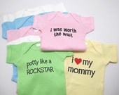 Custom Shirt with YOUR FUNNY SAYING baby one piece, Infant Tee, Toddler and Youth T-Shirts - All Sales Final